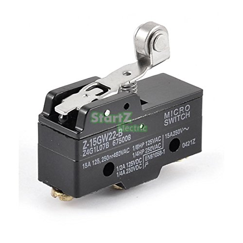 2Pcs Short Roller Hinge Normally Open/Close Micro Lever Limit Switch Z-15GW22-B ()