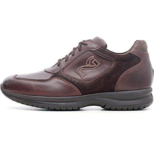 Zapatillas deportivas para hombre de piel marrón a604300u-301–Negro Jardines