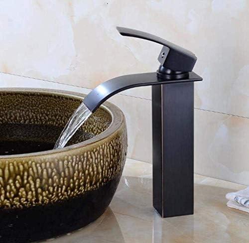 キッチン、バスルーム、洗面台のための適切な滝の浴室のシンク、モノブロックミキサー蛇口クロームシングルタップ、ブラック、