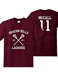 Mars NY Women's Unisex Teen Wolf Beacon Hills Lacrosse McCall 11 Tshirt