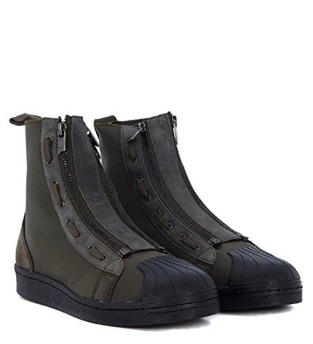 Y-3 Sneakers Pro Zip in Neopren Militärgrün Schwarz