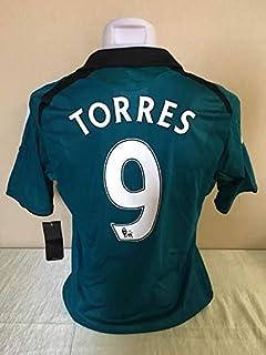 4df854171bb Retro Fernando Torres#9 Liverpool Away Soccer Jersey 2007 Full Premier Patch