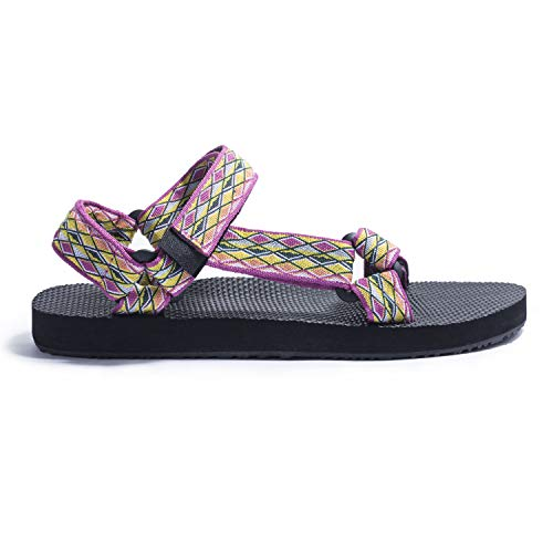 KRABOR Womens Sandals Open Toe Slides with Back Strap Athletic Adjustable Summer Shoes Size 6-11 Purple ()