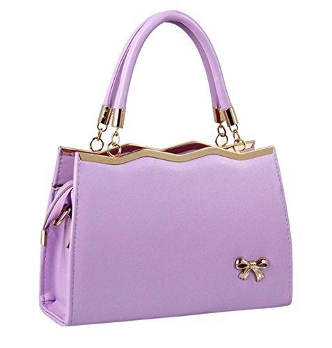 LuckES bolsos elegantes de cuero y a la moda para dama Las mujeres flor impresión bolsos bolsa de hombro bolsa dulce patrón Messenger Bag (Azul): Amazon.es: ...