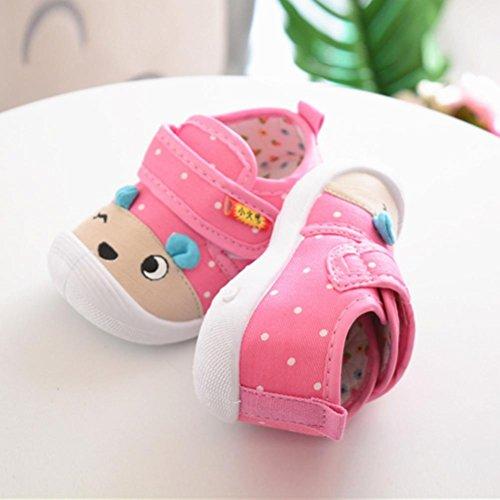Clode® Infant Kinder Baby Jungen Mädchen Cartoon Anti-Rutsch-Schuhe Weiche Sohle quietschende Sneakers Rosa