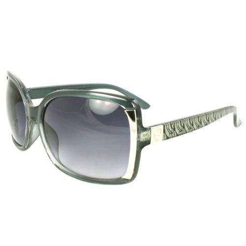 MLC EYEWEAR ® Stylish Square Sunglasses Green Frame Metropolitan Design Purple Black - Metropolitan Sunglasses