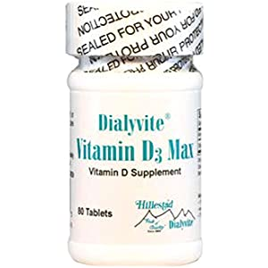 Dialyvite – Vitamin D3 Max – 50,000 IU – 80 Tablets