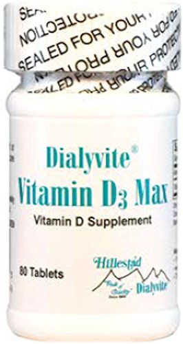 Dialyvite - Vitamin D3 Max - 50,000 IU - 80 Tablets