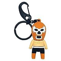 By Mexico Llavero de Luchador Naranja PVC