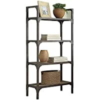ACME Furniture Acme 92327 Gorden Bookshelf, Weathered Oak & Antique Silver