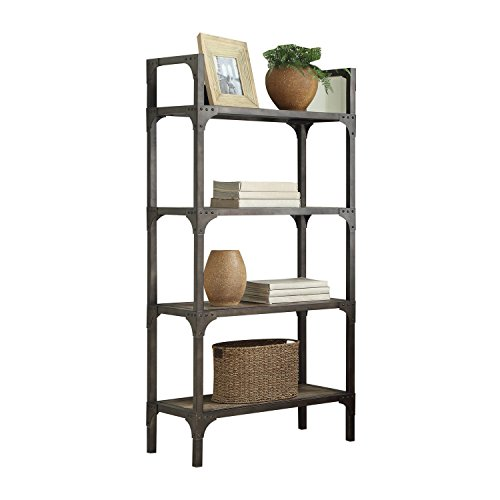 Cheap Acme Furniture Acme 92327 Gorden Bookshelf, Weathered Oak & Antique Silver