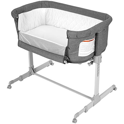 Baby Bassinet Bedside Sleeper for Baby, Converts to Playpen, Easy Folding Portable Crib (Grey)- KoolaBaby from KoolerThings