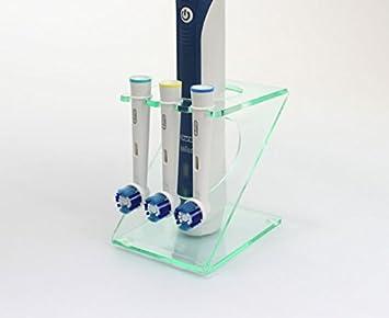 Soporte para cepillo de dientes eléctrico con 3 cabezales: Amazon.es: Hogar