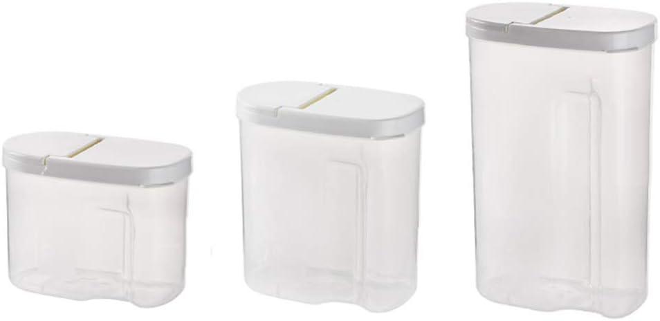 Caja de almacenamiento de plástico transparente para almacenamiento de alimentos para perros, mascotas, galletas, cajas de almacenamiento de plástico para cocina (paquete de 3): Amazon.es: Hogar