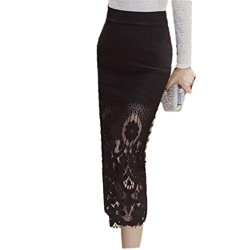 plus size pencil skirt with split - 5