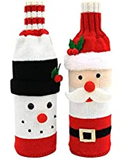 Trui Christmas Wine Fles Covers Trui Wijnhoes Santa En Sneeuwpop Rode Wijnfles Tas Voor Kerstversiering Party Gunst Xmas Decor 2 Stks