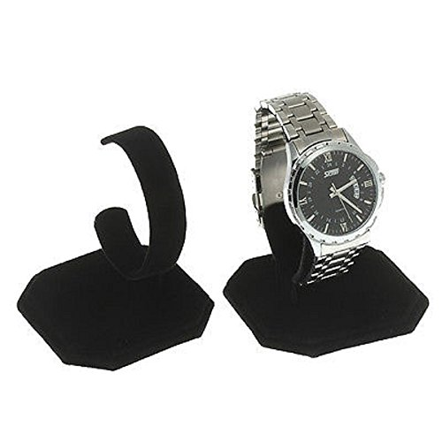 (FindingKing 3 Black Velvet Watch Jewelry Bracelet Display Stands)
