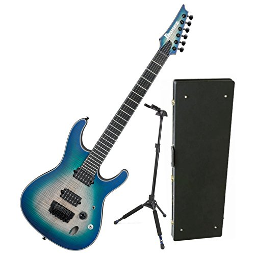 Ibanez Hard Case - Ibanez Iron Label S Series SIX6FDFM Blue Space Burst Electric Guitar w/ Hard Case and Locking Stand