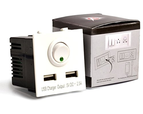 Accucharger IIP EMC 102 Dual USB Modular Charger  Socket Charger for Roma Fitting
