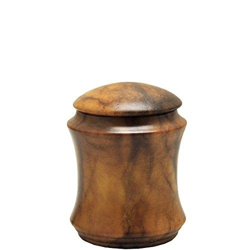 Alabaster Stone Cremation Urn Keepsake Size-Elegant (Alabaster Urn compare prices)
