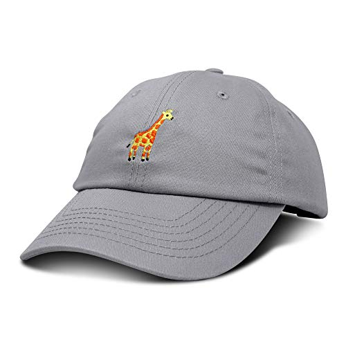 DALIX Giraffe Baseball Cap Soft Cotton Dad Hat Custom Embroidered in Gray