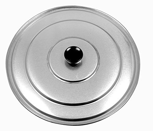 Paella Pan Lid With (Paderno World Cuisine A4982189 Aluminum Paella Pan Lid, 15-Inch, Gray)