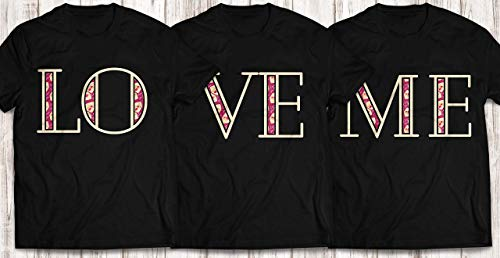 Love-Me Hearts Matching-Family-Pajamas Happy-Valentine's-Day T-shirt Customized Handmade Bodysuit/Hoodie/Sweater/Long Sleeve/Tank Top/Premium T-shirt ()