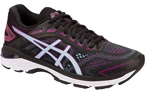 ASICS Women's GT-2000 7 Running Shoe - Color: Black/Skylight (Wide Width) - Size: 9.5