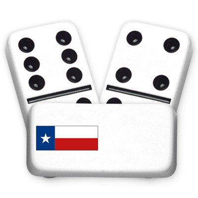 Texas Flag Texana Series Custom Text Dominoes]()