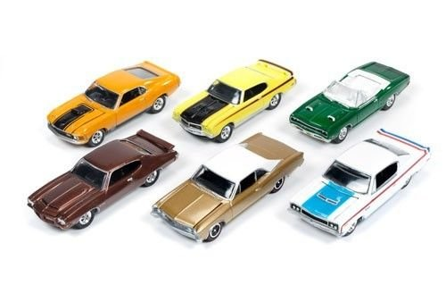 Muscle Cars USA Release 1A Set of 6 cars 1/64 by Johnny Lightning JLMC001-A 1970 Chevelle Ss Convertible