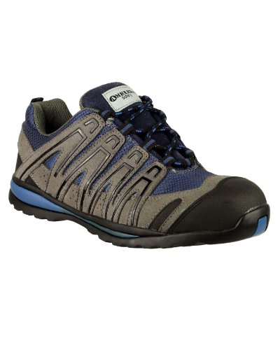 Amblers Safety FS34C Safety Mens Trainers Stylish Microfiber Lace Up Shoes New Blue 6