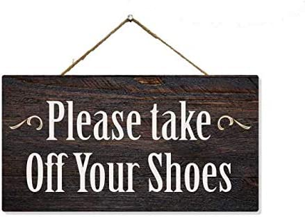 1 Please Remove Your Shoes Sign Frame Home Entrance Open House Tabletop