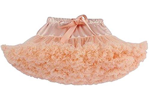 Bai You Mei Girls' Dress-Up Layered Ballerina Princess Tutu Skirt (Plus Size Princess Peach Halloween Costume)