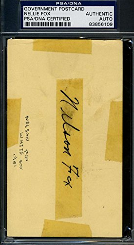 NELLIE NELSON FOX 1951 GPC GOVERNMENT POSTCARD PSA/DNA SIGNED AUTHENTIC AUTOGRAPH
