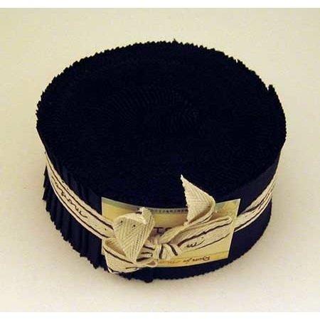 [해외]Moda Basics 벨라 솔리드 블랙 9900-99 젤리 롤 40 2.5x44-인치 (6.4x112cm) 미리 재단된 면 패브릭 스트립 / Moda Basics Bella Solids Black 9900-99 Jelly Roll, Set of 40 2.5x44-inch (6.4x112cm) Precut Cotton Fabric Strips
