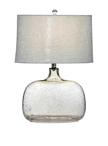 - Bassett Mirror Portman Table Lamp, Clear Seeded Glass