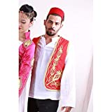Ottoman Islamic Dresses Fez Vest from Turkey Track Shipment (red)