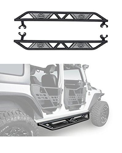 2007-2018 JK Black Blade Side Step Nerf Bars for Jeep Wrangler Unlimited 4-Door