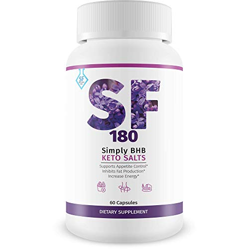 SF 180 - Simply SF Keto Diet - Burn More Fat Faster with Boosted Ketosis Entry - Beach Body All Year Round with Simply Fit Keto Miraculoux Ketones Pills - Slimfit 180 Keto BHB by Keto Choice Labs