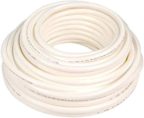 Soft Bendable White Semi-Clear Plastic Tubing for High-Purity Applications Inner Diameter 5//8 Outer Diameter 7//8-10 ft