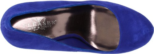 Pleaser Day & Night - Gorgeous-20 - sexy high heels suede platform pumps 2,5-8 Royal Blue Suede