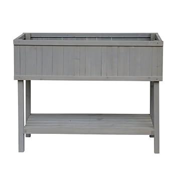 Herstera 11201801 Hochbeet Weichholz Grau 40 X 100 X 80 Cm Amazon