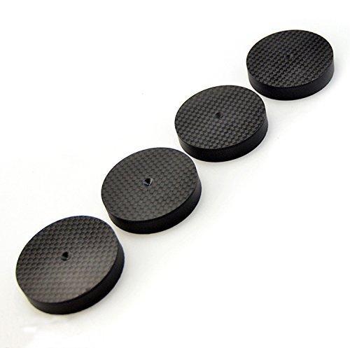 10Pcs 50 x 10mm Carbon Fiber Speaker Spike Cone Pad