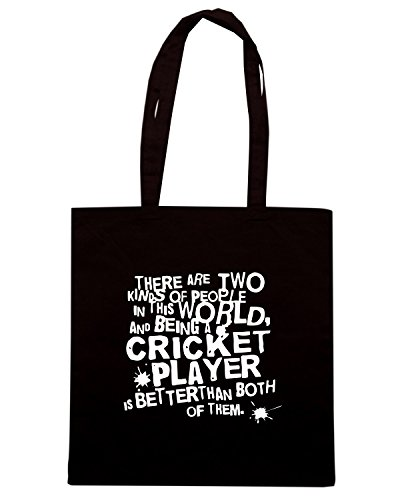 T-Shirtshock - Bolsa para la compra OLDENG00509 gift for cricket player Negro