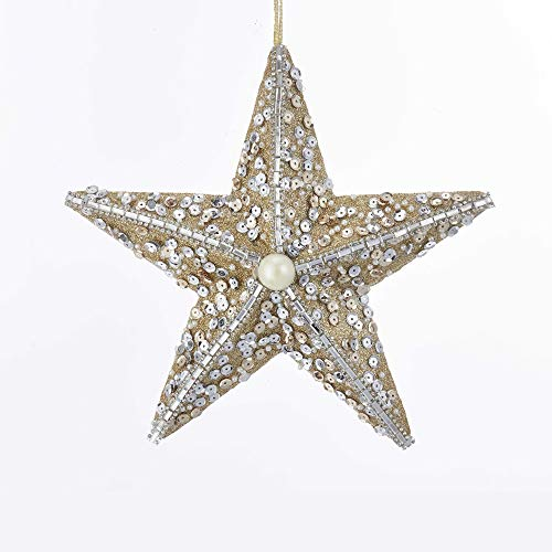 Kurt Adler Starfish with Sequins Hanging Ornament
