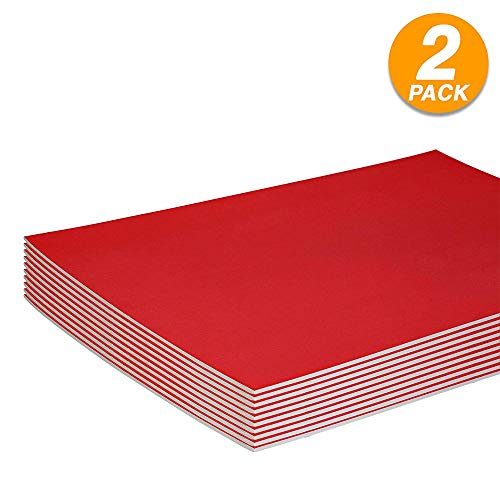 Red Foam Boards Lightweight Sign Blank Foam Core Poster Backing Boards School and Office Signboard Durable Poster Sheets Blank Signs for Presentation and Crafts (Pack of 2) by - Emraw