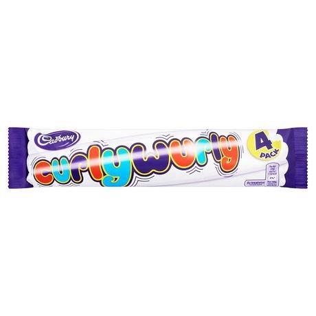 Curly Wurly Chocolate Bar (Cadbury Curly Wurly Chocolate bar 8 bars ( 2 packs of 4) CANADA)
