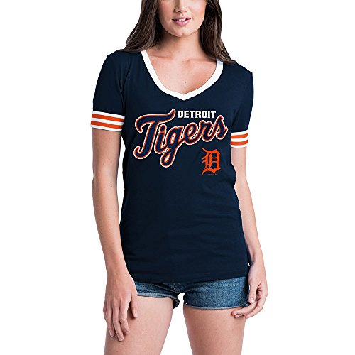 Detroit Tigers Women's S/S V-Neck Baby Jersey