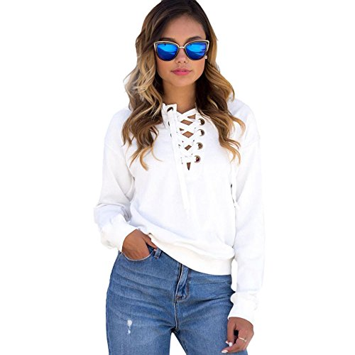 TOOPOOT Women Casual Blouse Pullovers Long Sleeve Shirts (S, c) - Top College Halloween Costumes 2016