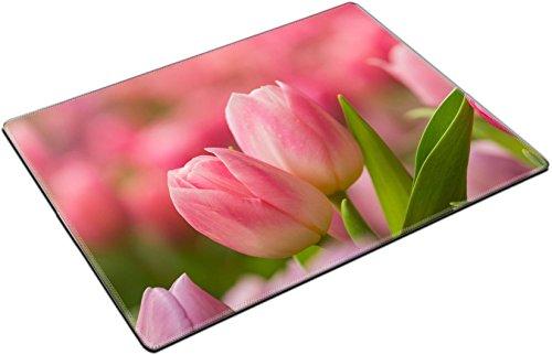 MSD Place Mat Non-Slip Natural Rubber Desk Pads design: 38724408 Tulip Beautiful bouquet of tulips colorful tulips tulips in spring colourful (Colourful Bouquet)
